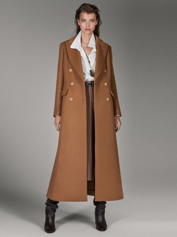 LIMITED EDITION BUTTONED CASHMERE/WOOL CAMEL COAT