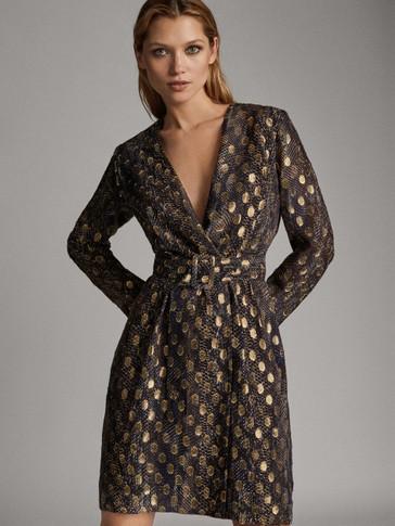 쉬머 프린트 드레스