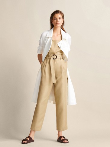 DARTED JUMPSUIT WITH BELT