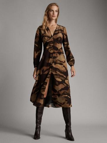 BLENDED PRINT DRESS