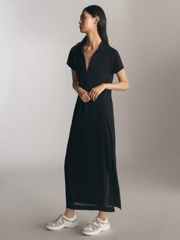 فستان أسود طويل