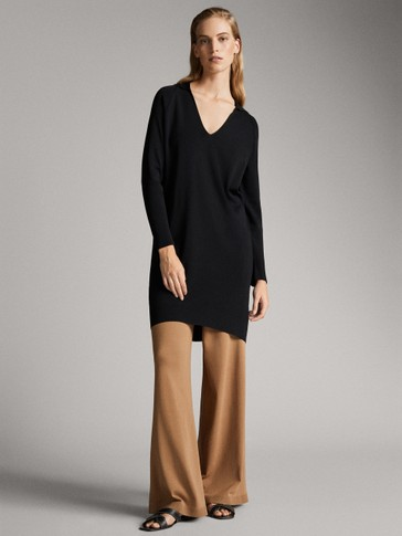 PLAIN KNIT DRESS