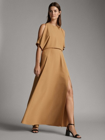 DRESS WITH BACK SLIT DETAIL
