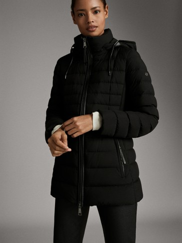 STRETCH QUILTED DOWN JACKET