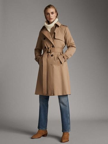 معطف المطر قطني كلاسيكي