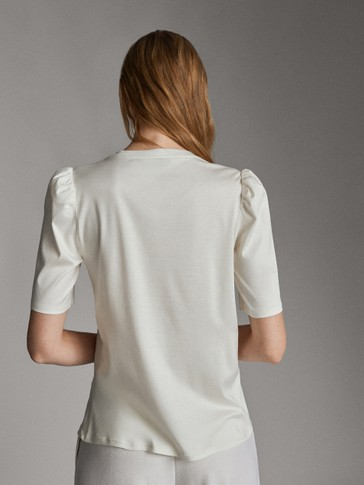 SHORT PUFFED SLEEVE T-SHIRT