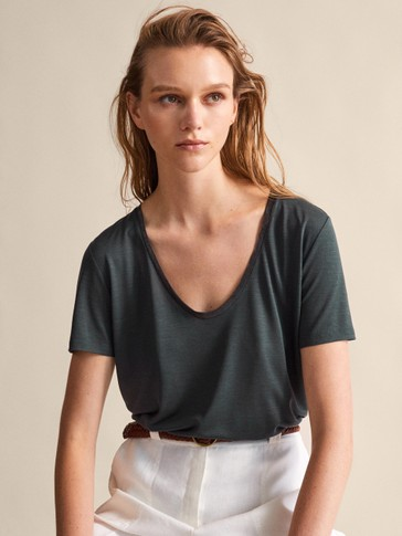 LYOCELL SHIRT WITH METALLIC TRIM