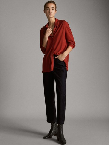 PLAIN LYOCELL WOOL SHIRT