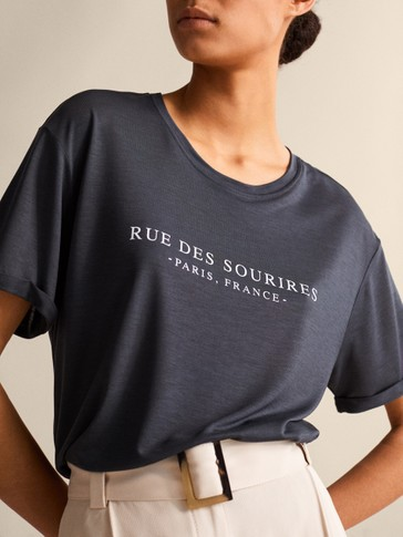 RUE DES SOURIRES LYOCELL COTTON T-SHIRT
