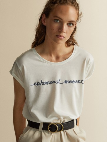 'EPHEMERAL MOMENT' LYOCELL AND COTTON T-SHIRT