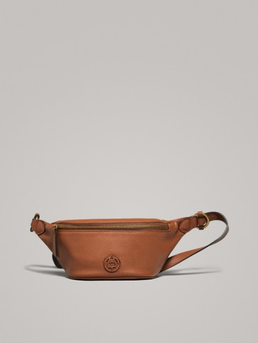 NAPPA LEATHER BELT BAG WITH LOGO