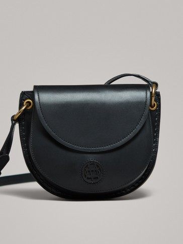 BLACK NAPPA CROSSBODY BAG