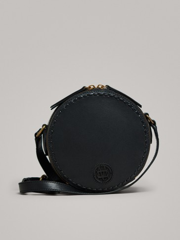 LEATHER CROSSBODY BAG WITH LOGO