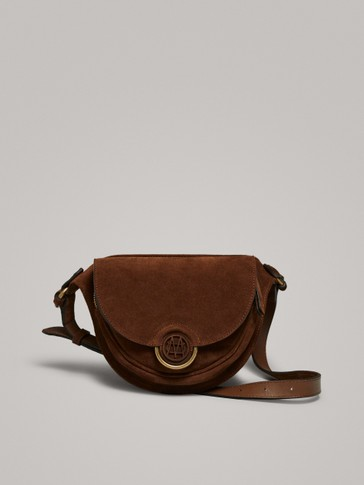 SPLIT SUEDE BELT BAG WITH LOGO