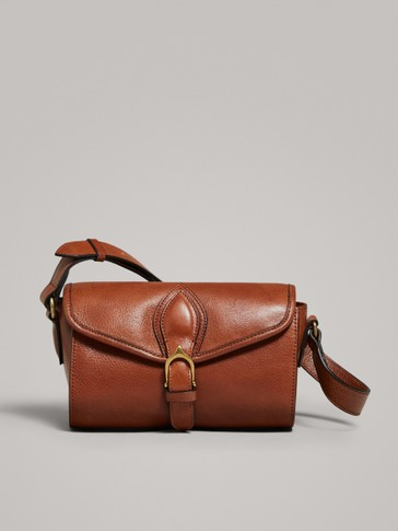 LEATHER BOWLING BAG WITH BUCKLE