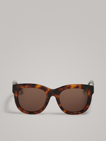 LARGE TORTOISESHELL RESIN SUNGLASSES