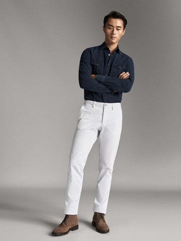 PANTALONI SLIM FIT CHINO DI COTONE
