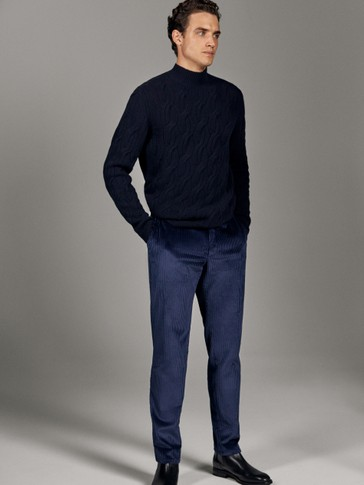 LIMITED EDITION WIDE-LEG CORDUROY TROUSERS