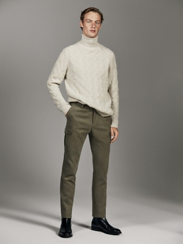 PANTALON CARGO EN SERGÉ LIMITED EDITION SLIM