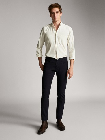 PANTALONI TIPO DENIM IN COTONE SLIM FIT