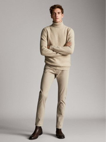 سروال جينز نسيج محكم بيلاردين سليم فيت SLIM FIT