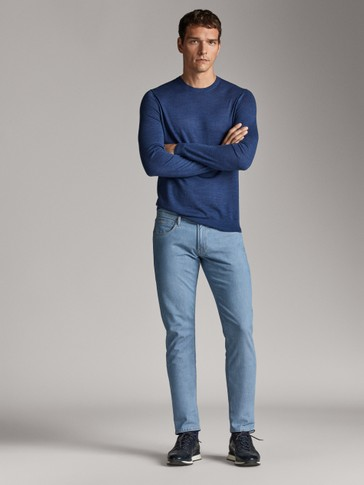 CALÇAS DE GANGA STONE WASH SLIM FIT
