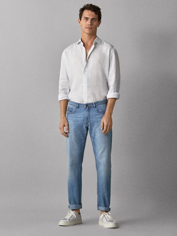 REGULAR-FIT JEANS MED RIFTER