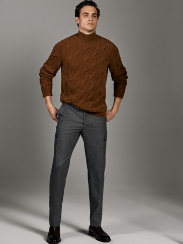 LIMITED EDITION SLIM FIT WOOL CARGO TROUSERS