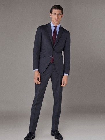 CITY SLIM FIT TWILL TROUSERS