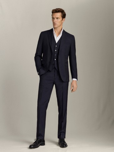PANTALON LAINE PEIGNÉE SLIM FIT
