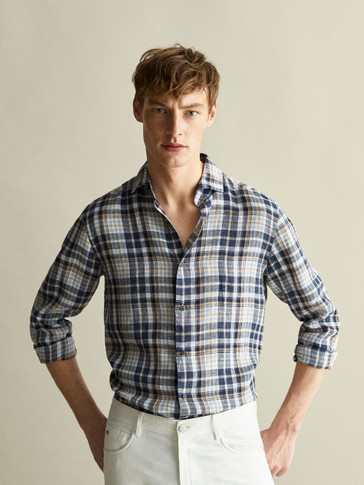 CAMISA 100% LLI QUADRES SLIM FIT