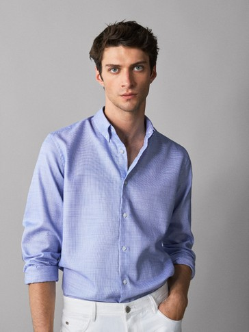 CAMISA ALGODÓN CODERAS SLIM FIT