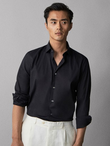 PLAIN SLIM FIT SHIRT