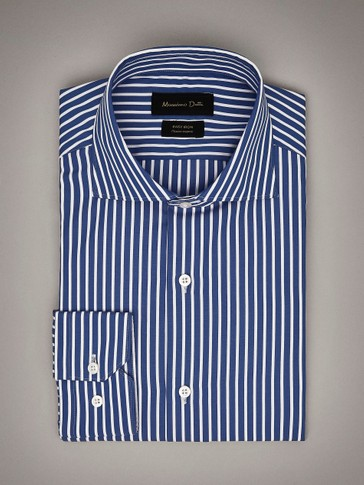 SLIM FIT STRIPED EASY IRON SHIRT