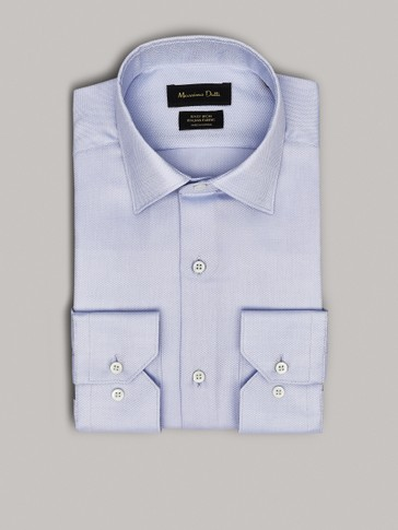 EASY IRON SLIM FIT FALSE PLAIN SHIRT