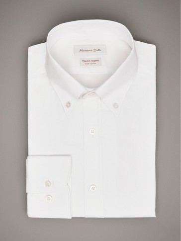 TAILORED FIT PLAIN SHIRT