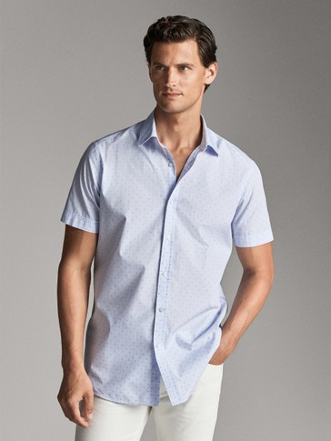 SLIM FIT SHORT SLEEVE FIL COUPÉ SHIRT