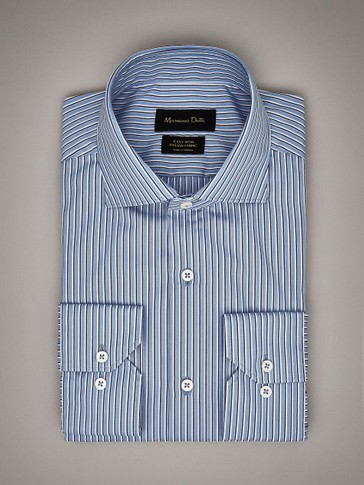 CAMISA ALGODÓN DOBLE RAYA SLIM FIT EASY IRON