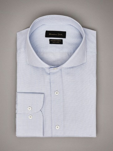 TAILORED FIT CHECK COTTON SHIRT