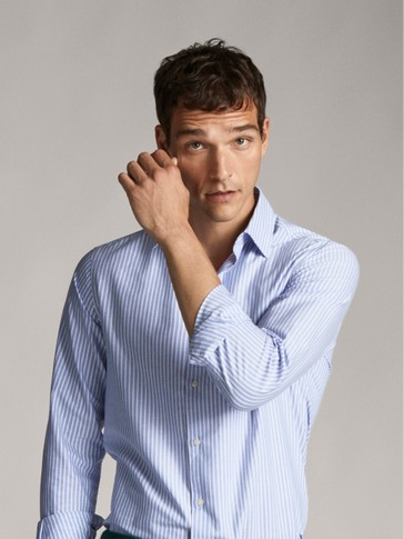 CAMICIA A RIGHE OXFORD SLIM FIT