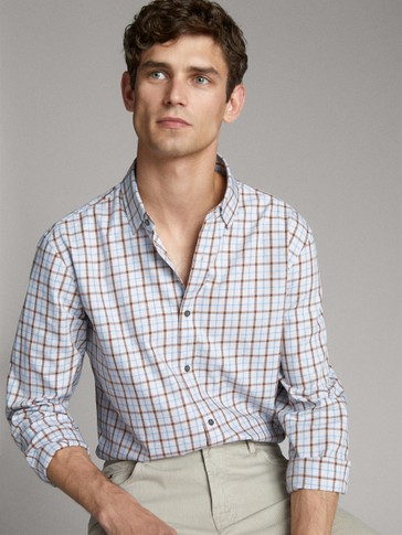 CAMISA DE COTÓ QUADRES SLIM FIT
