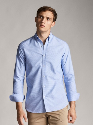 CAMISA PATA DE GALLO SLIM FIT
