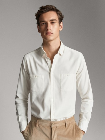 SLIM FIT NEEDLECORD SHIRT