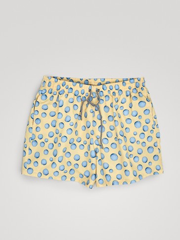 CIRCLE PRINT SWIMMING TRUNKS