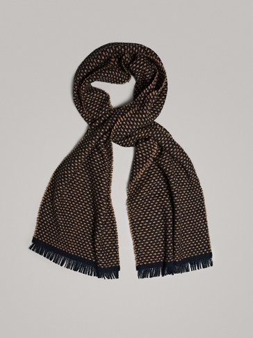 TWO-TONE CHECK TEXTURED SCARF