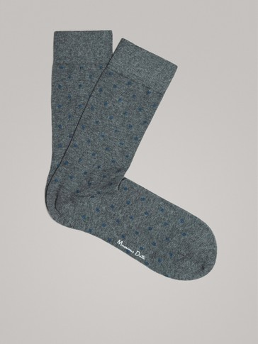TAUPE COMBED COTTON SOCKS