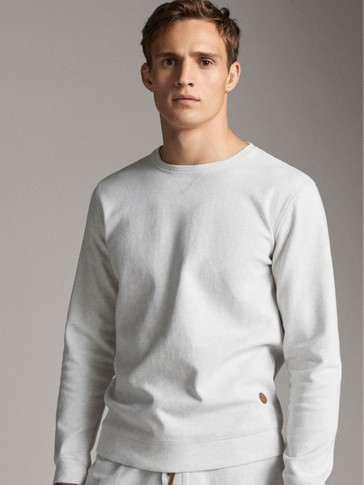 MOTTLED COTTON SWEATSHIRT