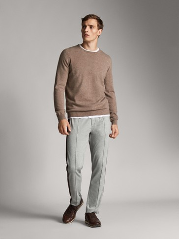COTTON TROUSERS WITH SIDE STRIPES