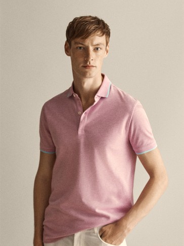 OXFORD POLO SHIRT WITH CONTRAST TRIMS
