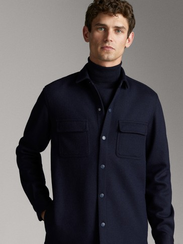 WOOL OVERSHIRT WITH POCKETS